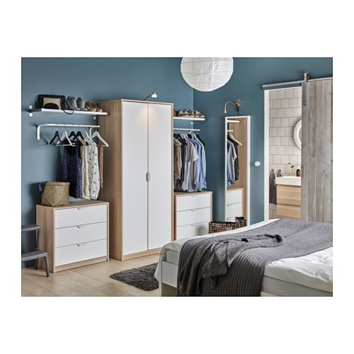 Askvoll Chest Of 3 Drawers White Stained Oak Effect White