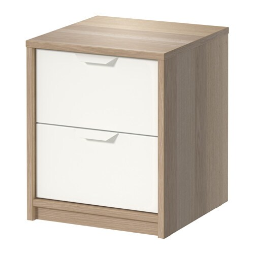 ASKVOLL Chest of 2 drawers IKEA Smooth running drawers with pull-out stop.