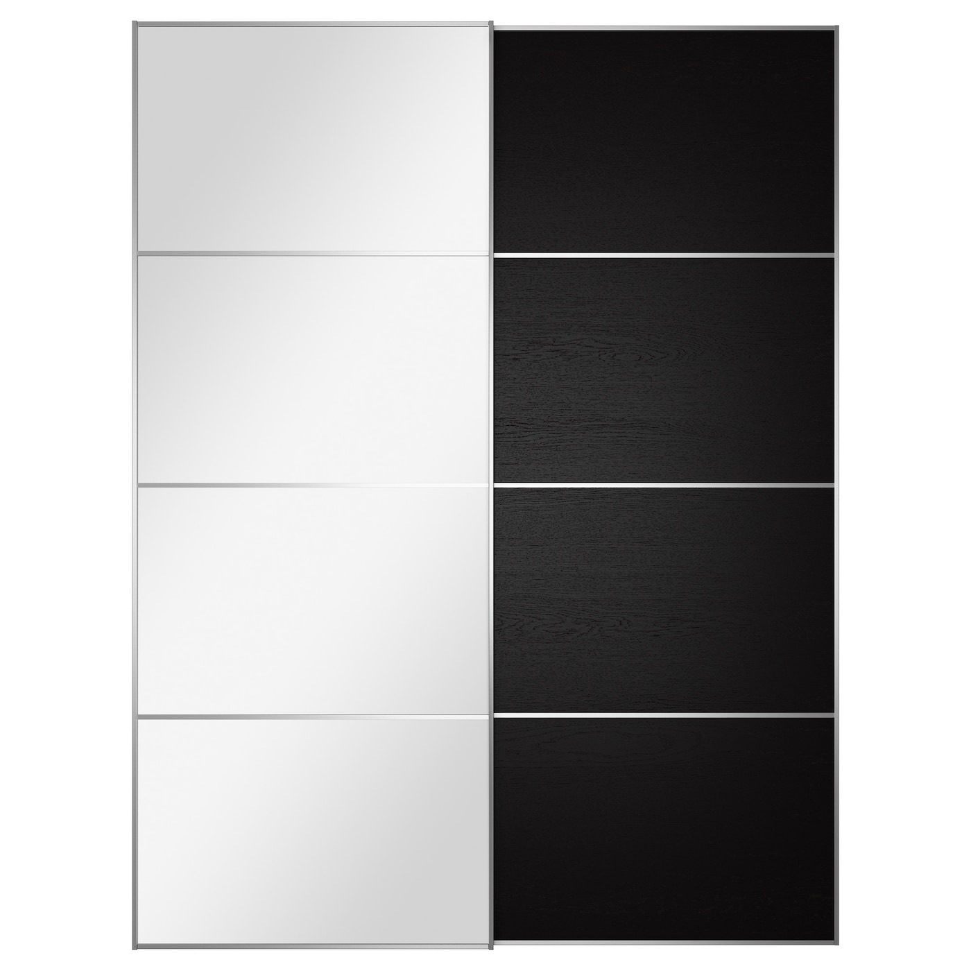Sliding wardrobe doors ikea for Porte miroir ikea
