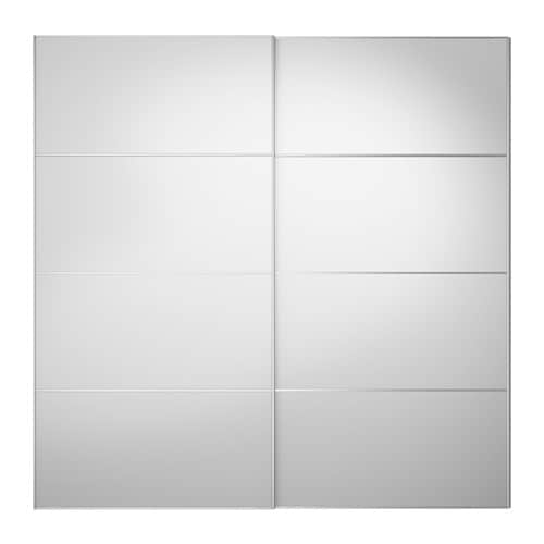 AULI Pair of sliding doors Mirror glass 200 x 201 cm - IKEA