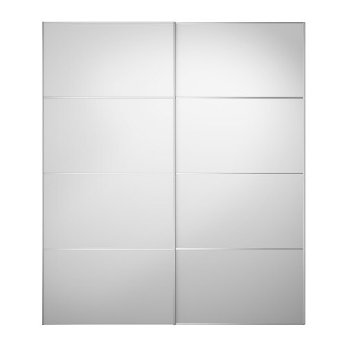 Auli Pair Of Sliding Doors Mirror Glass 200 X 236 Cm Ikea