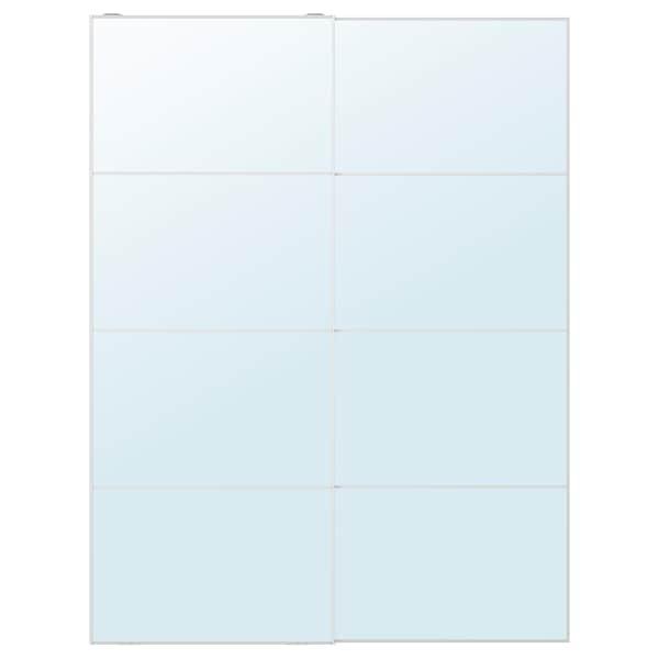 AULI Pair of sliding doors, mirror glass, 150x201 cm