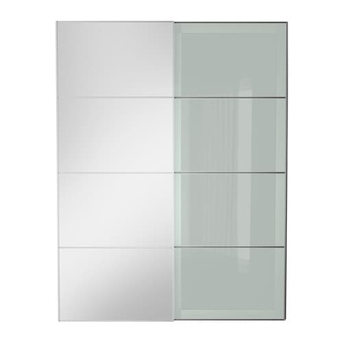 Aulisekken pair of sliding doors mirror glassfrosted glass 150x201 ikea aulisekken pair of sliding doors planetlyrics Choice Image