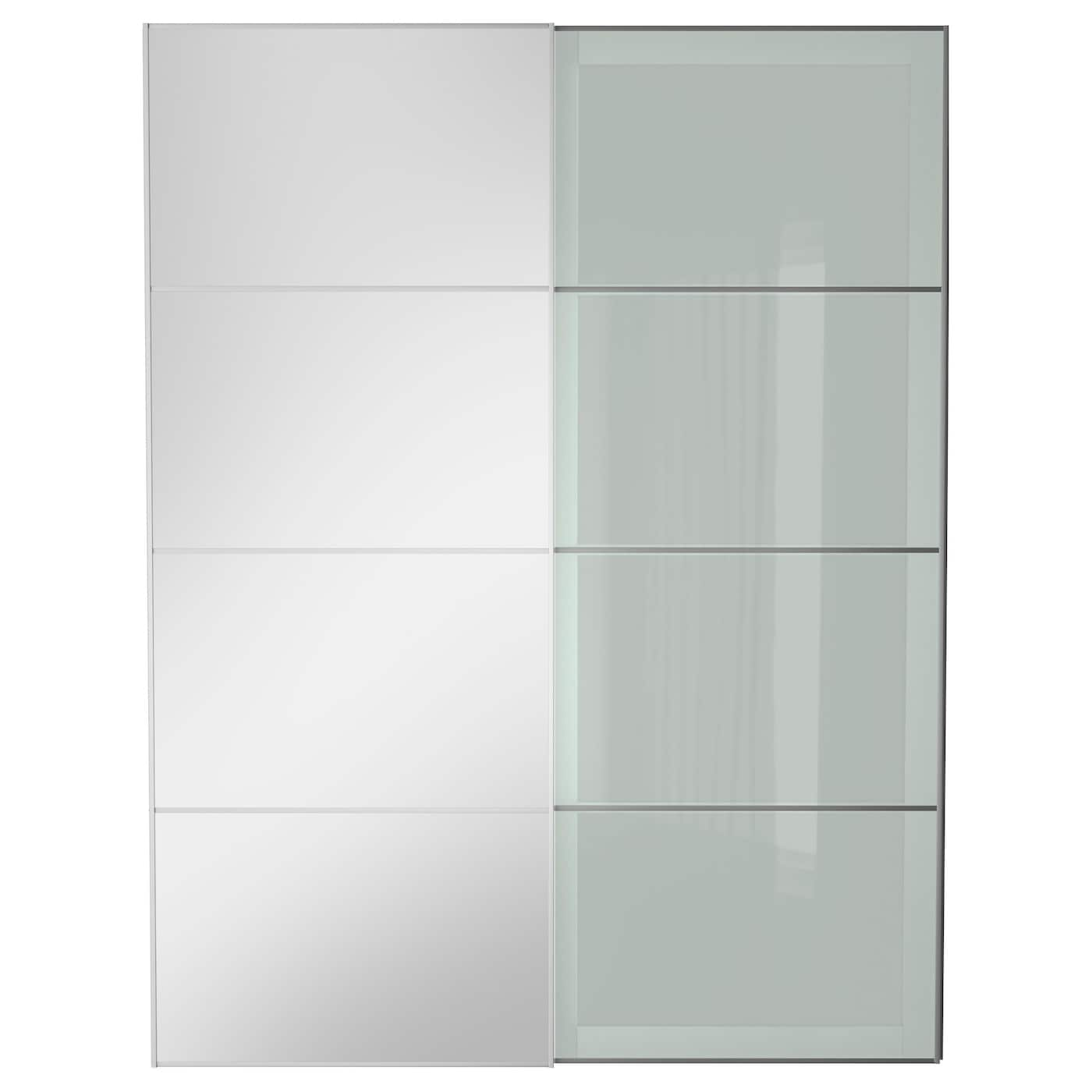 AULI SEKKEN Pair Of Sliding Doors Mirror Glass Frosted Glass 150x201 Cm IKEA