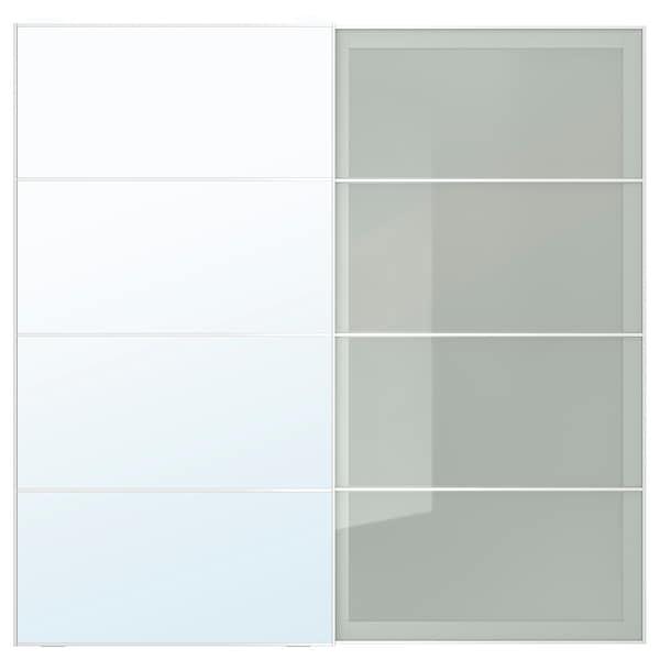 Auli Sekken Pair Of Sliding Doors Mirror Glass Frosted Glass Ikea