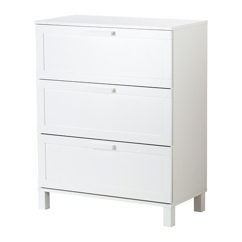Austmarka Chest Of 3 Drawers White 80x100 Cm Ikea