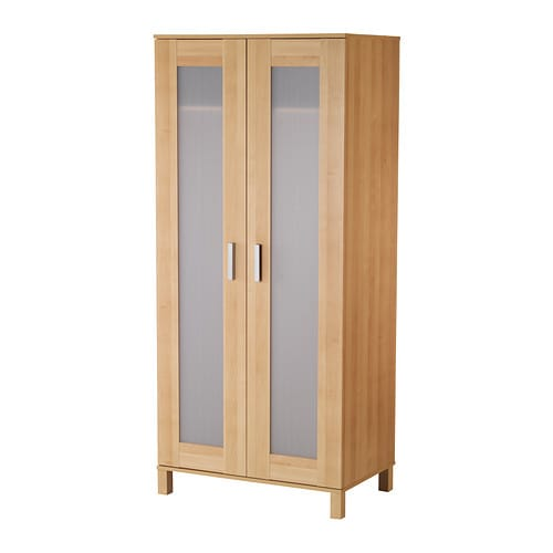 AUSTMARKA Wardrobe IKEA Adjustable, self-closing hinges make the wardrobe both good-looking and practical.