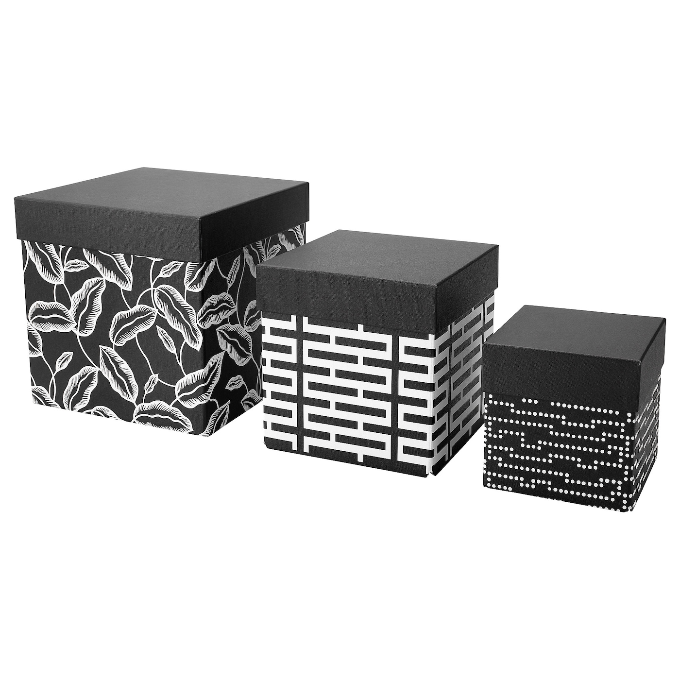 IKEA AVSIKTLIG box with lid, set of 3