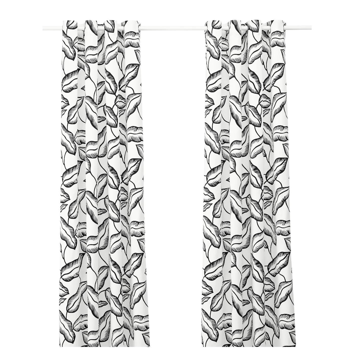 Black and white curtains - Ikea Avsiktlig Curtains 1 Pair