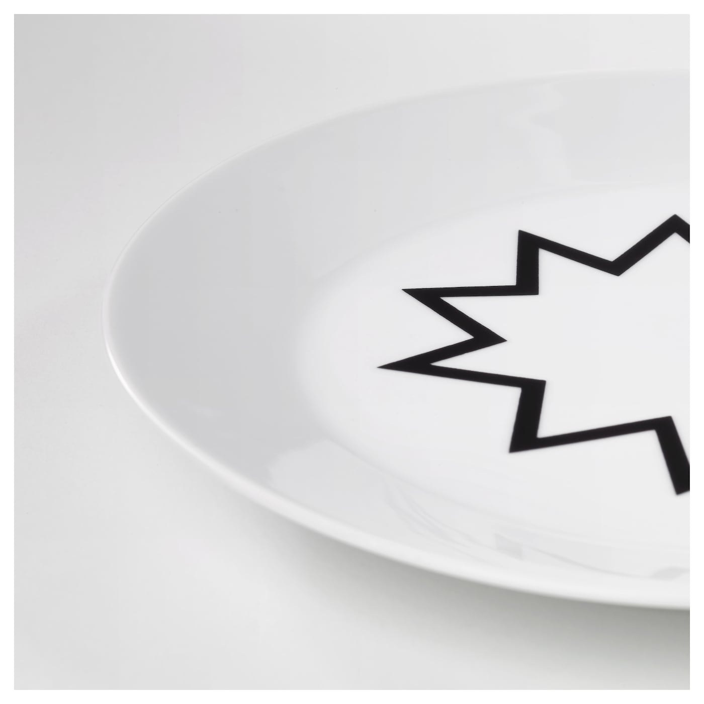 IKEA AVSIKTLIG plate Made of feldspar porcelain, which makes the plate impact resistant and durable.