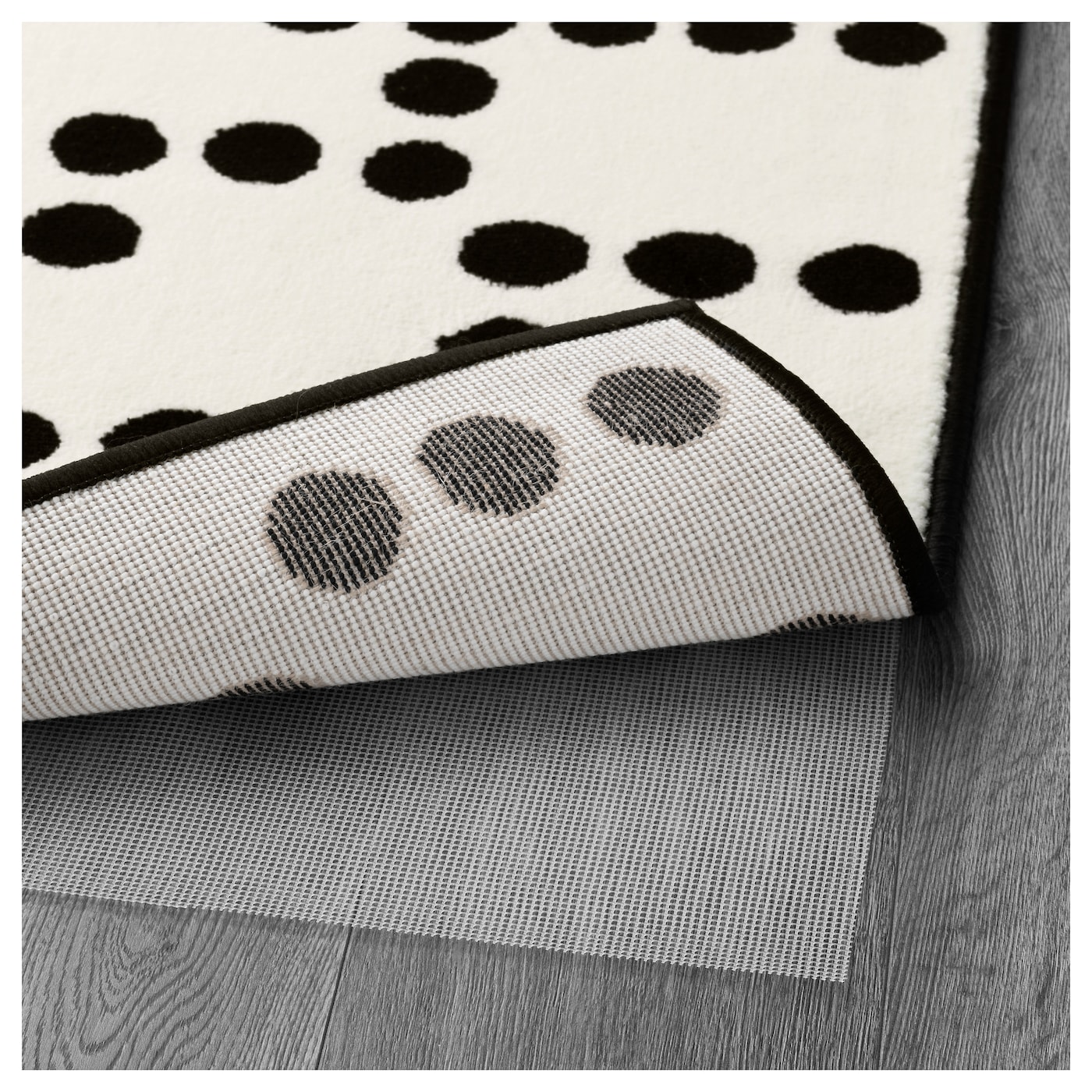 IKEA AVSIKTLIG rug, low pile The thick pile dampens sound and provides a soft surface to walk on.