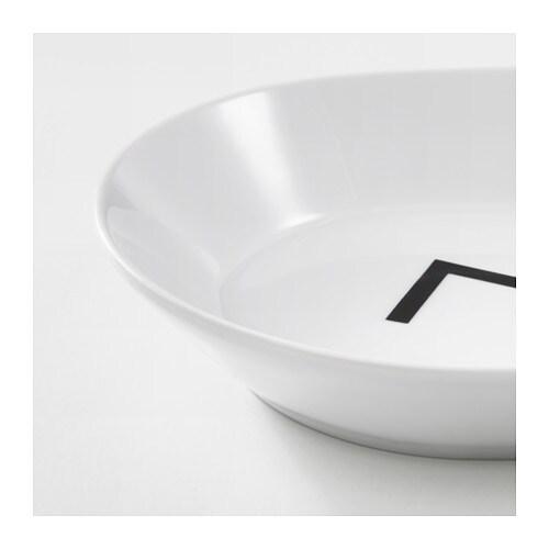Avsiktlig serving plate zigzag pattern 31x17 cm ikea for Miroir zig zag ikea