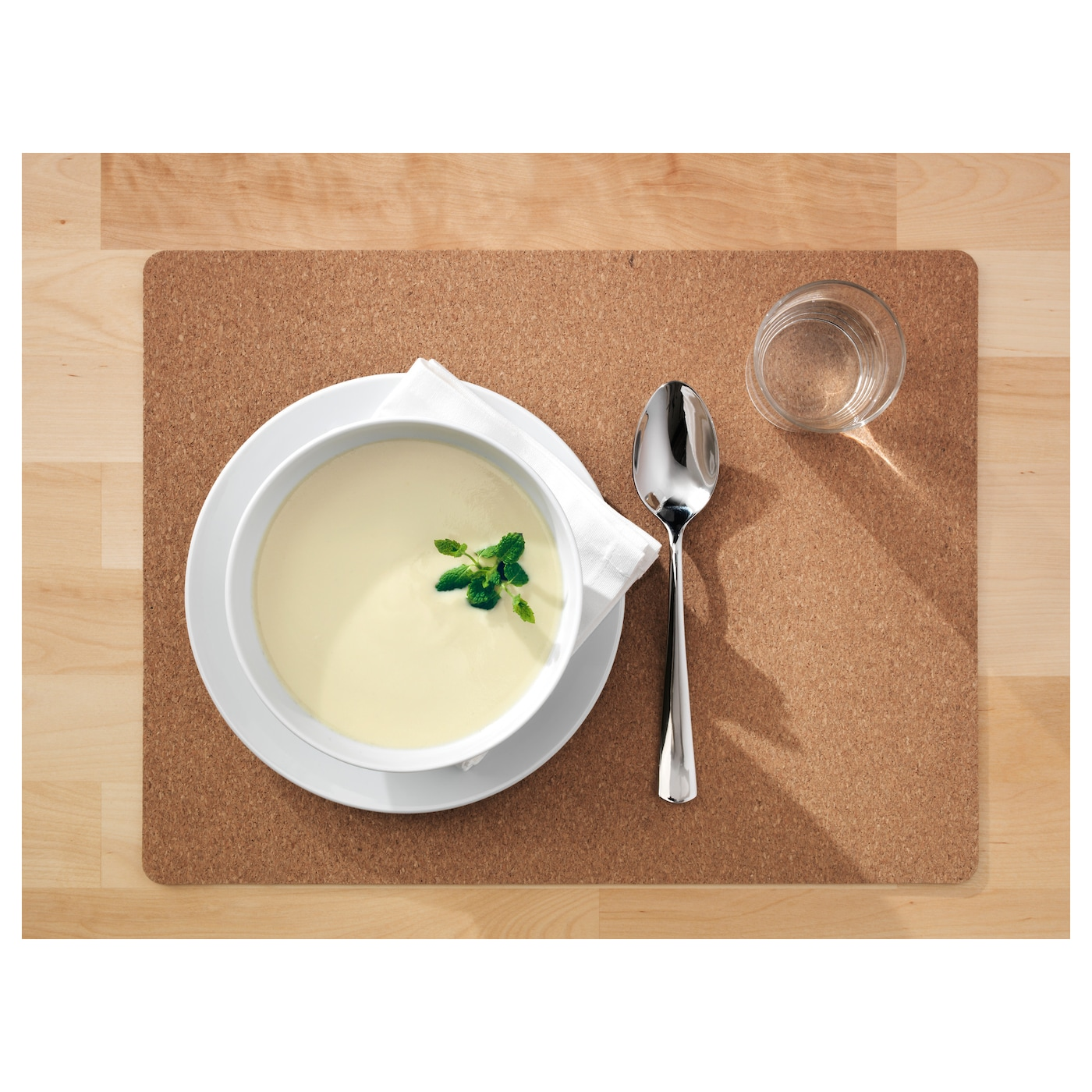 IKEA AVSKILD place mat Protects the table top surface and reduces noise from plates and cutlery.