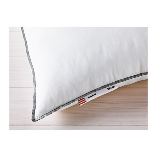 IKEA AXAG pillow, softer Easy-care pillow with a brushed microfibre fabric for a soft feel.