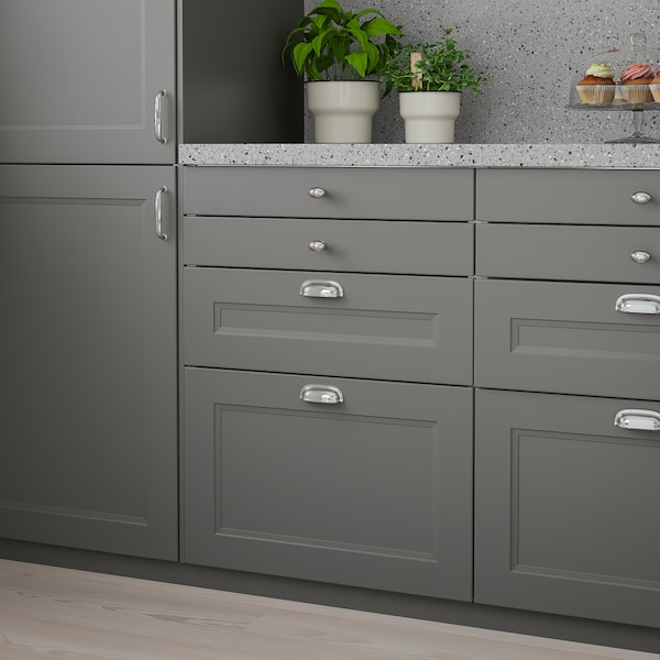AXSTAD drawer front dark grey 59.7 cm 19.7 cm 2.0 cm