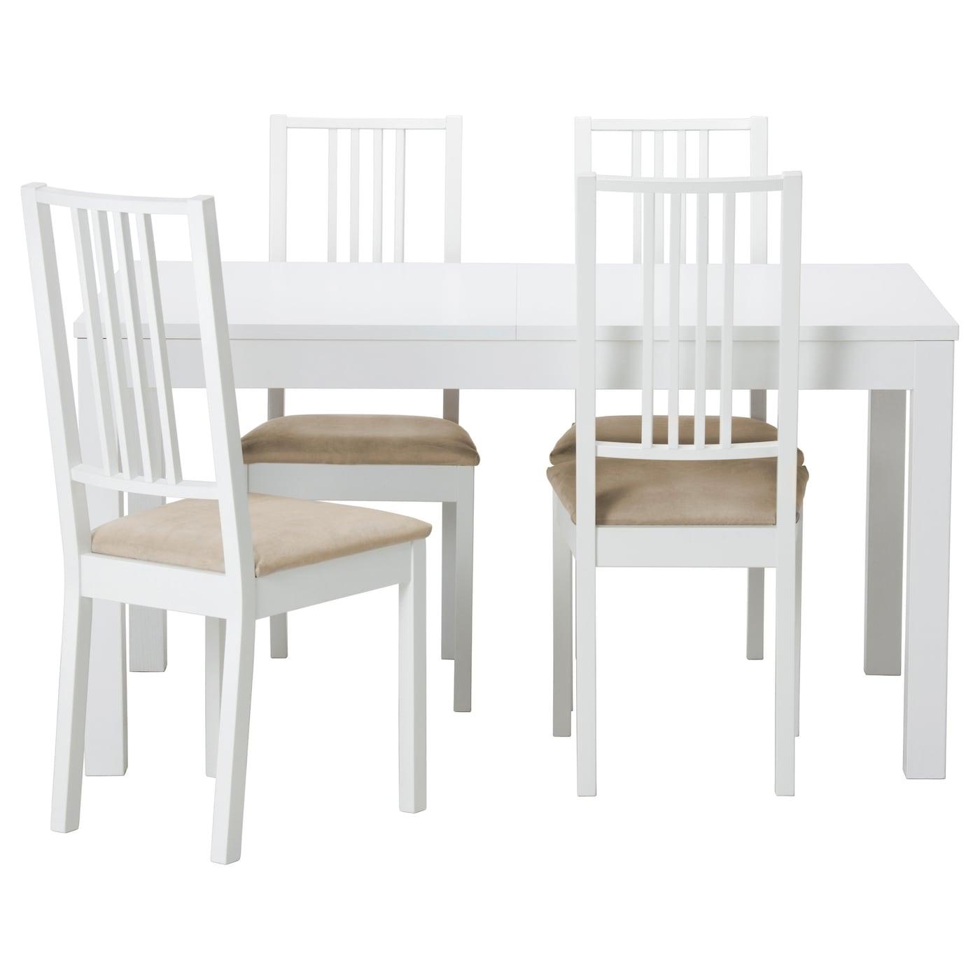 BRJEBJURSTA Table and 4 chairs Whitekungsvik sand 140 cm IKEA