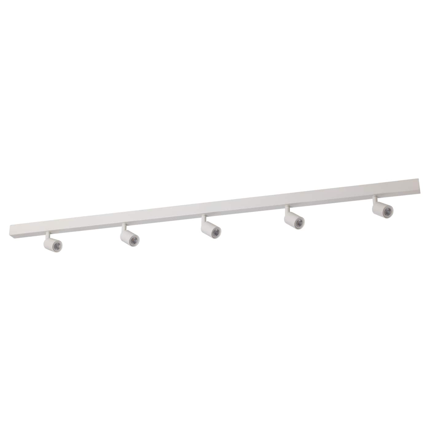 B ve led ceiling track 5 spots white ikea - Ikea iluminacion led ...