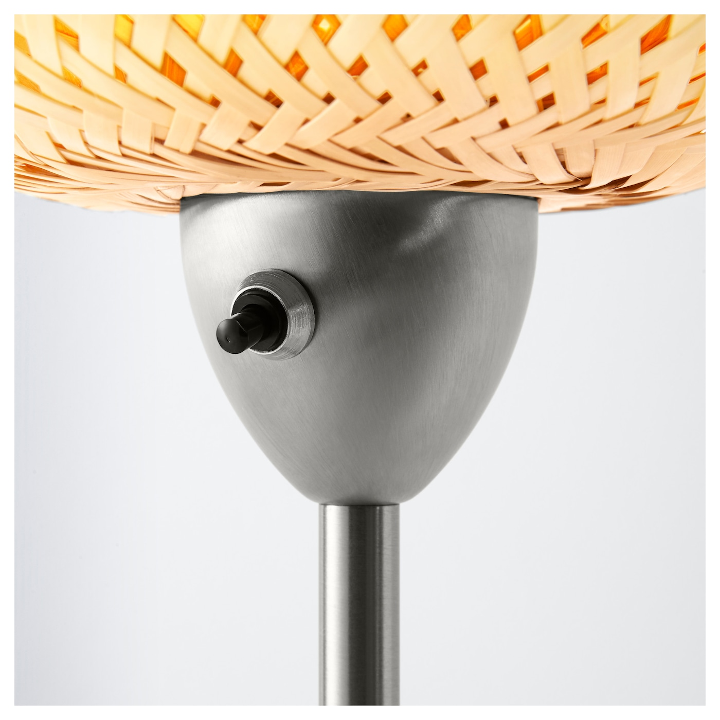 b ja floor lamp nickel plated bamboo ikea. Black Bedroom Furniture Sets. Home Design Ideas