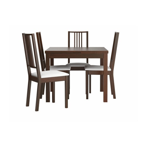 IKEA BÖRJE/BJURSTA table and 4 chairs