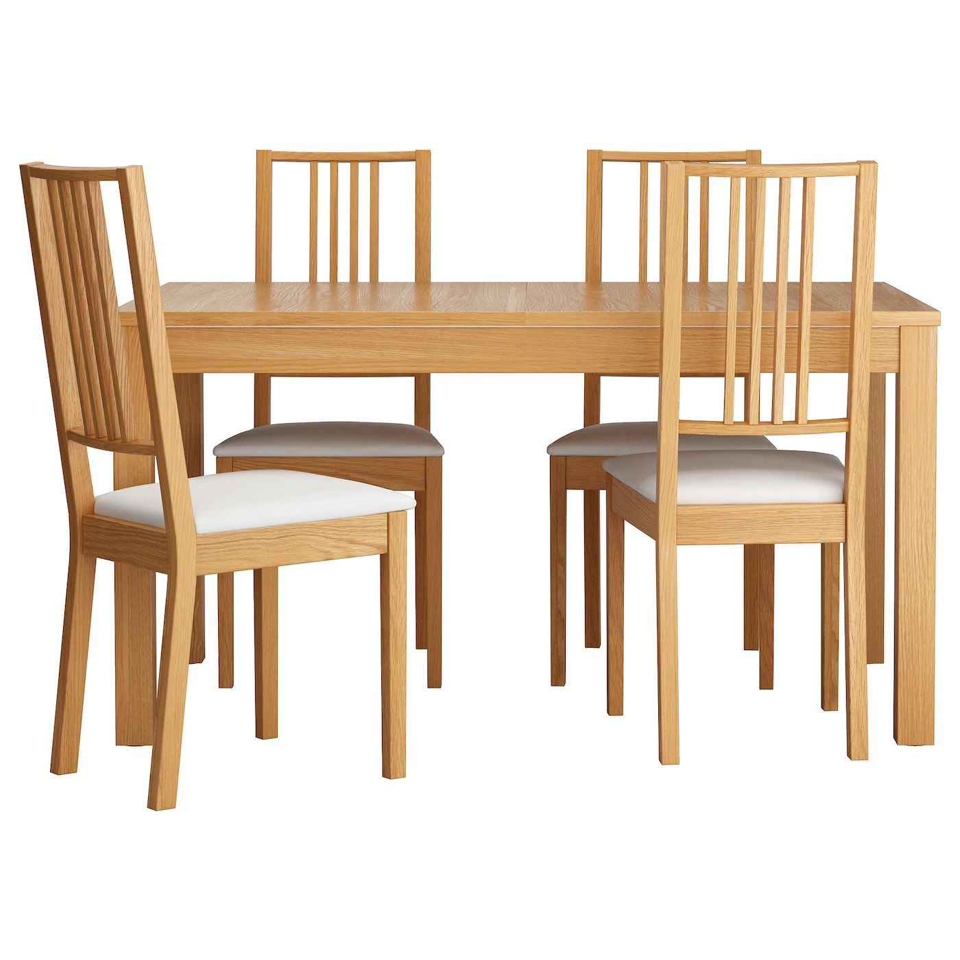 Dining table sets 4 chairs - Ikea Brjebjursta Table And 4 Chairs The Surface Is Easy To