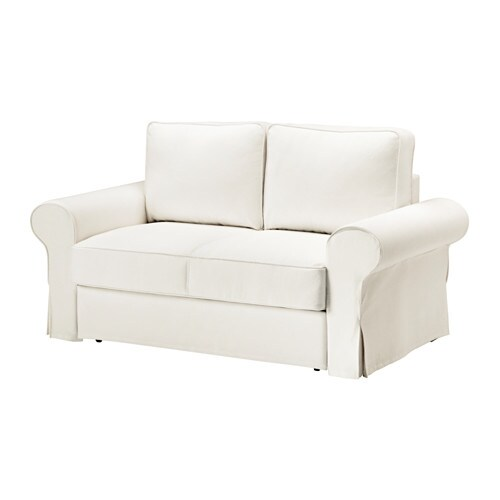 Backabro two seat sofa bed cover hylte white ikea - Canapes cuir ikea ...