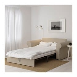 BACKABRO Two seat sofa bed Hylte beige IKEA