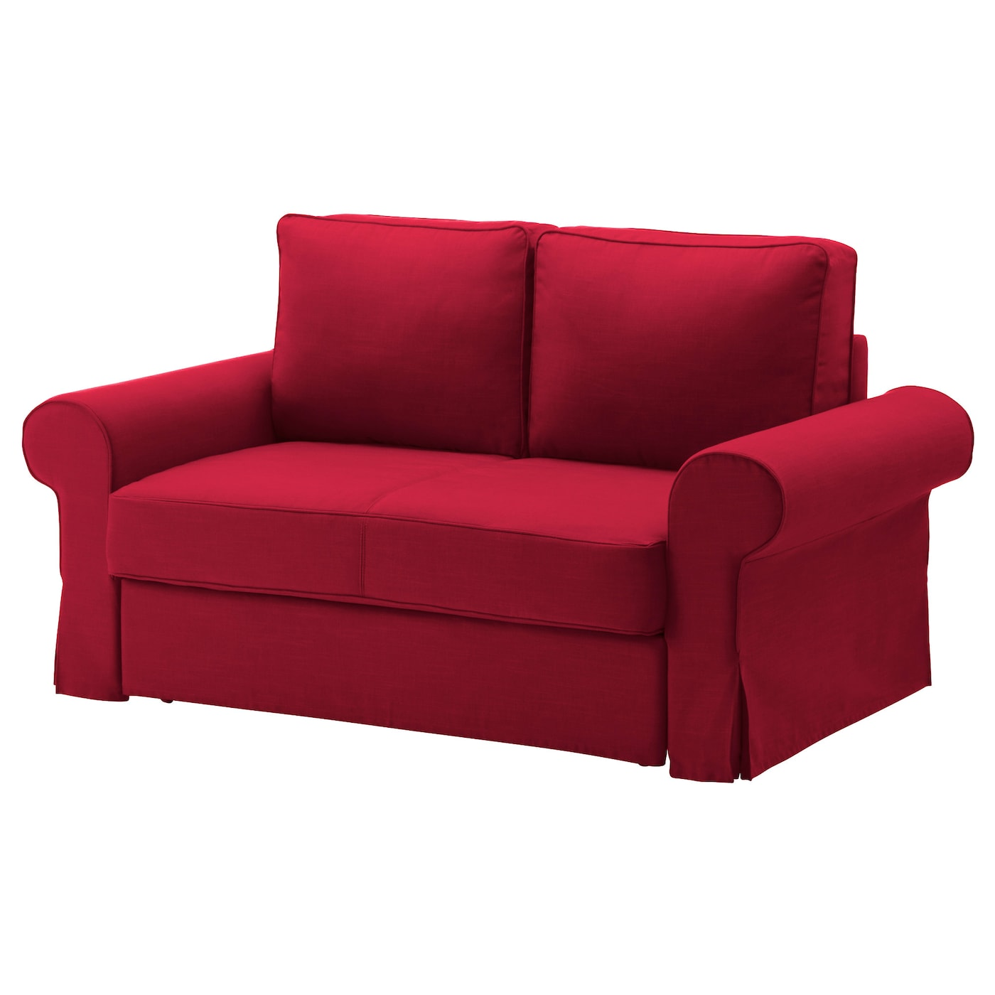 Backabro two seat sofa bed nordvalla red ikea for Ikea sofa rosa