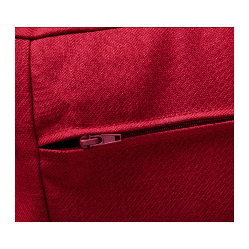 Backabro two seat sofa bed nordvalla red ikea for Housse protection matelas