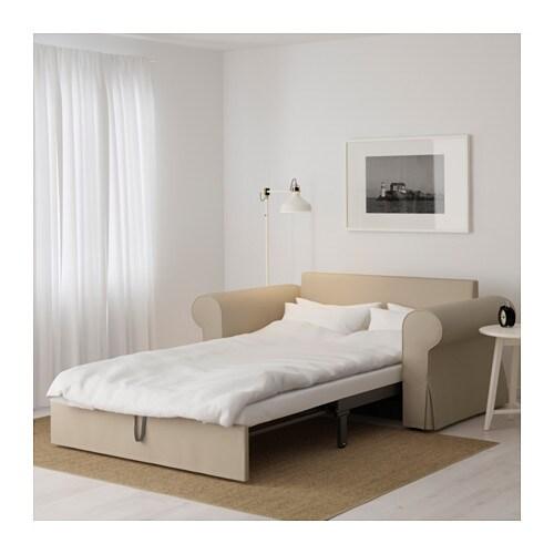 backabro two seat sofa bed ramna beige ikea. Black Bedroom Furniture Sets. Home Design Ideas