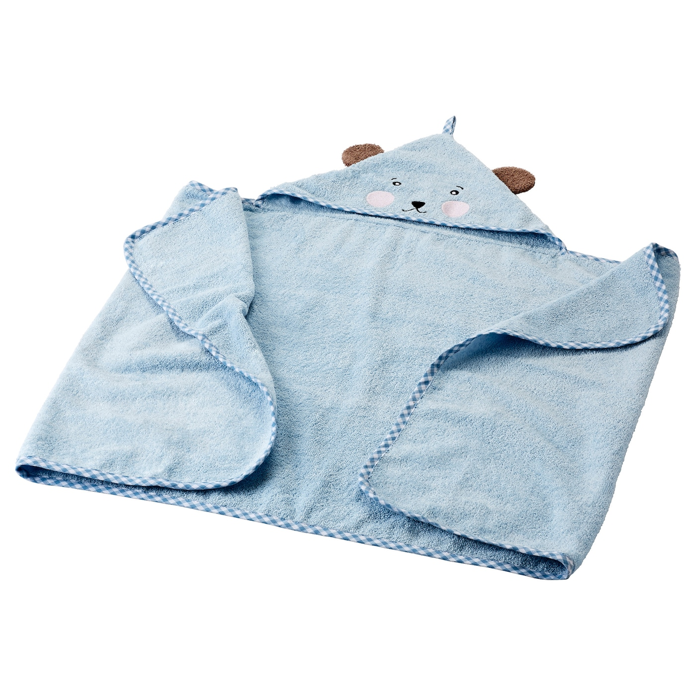 IKEA BADET baby towel with hood Cotton, soft and nice to baby skin.