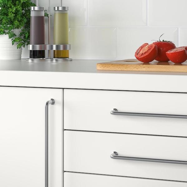 BAGGANÄS Handle, stainless steel, 335 mm