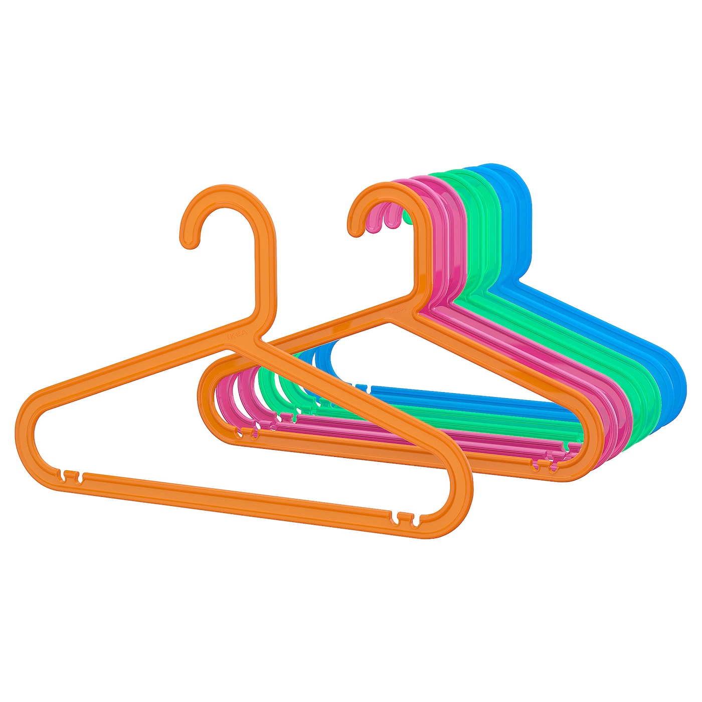 IKEA BAGIS children's coat-hanger The plastic is flexible to minimise the risk of breaking.