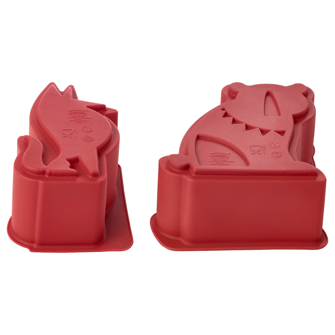 IKEA BAKGLAD baking mould, set of 2 The silicone makes the pastry release easily from the moulds.