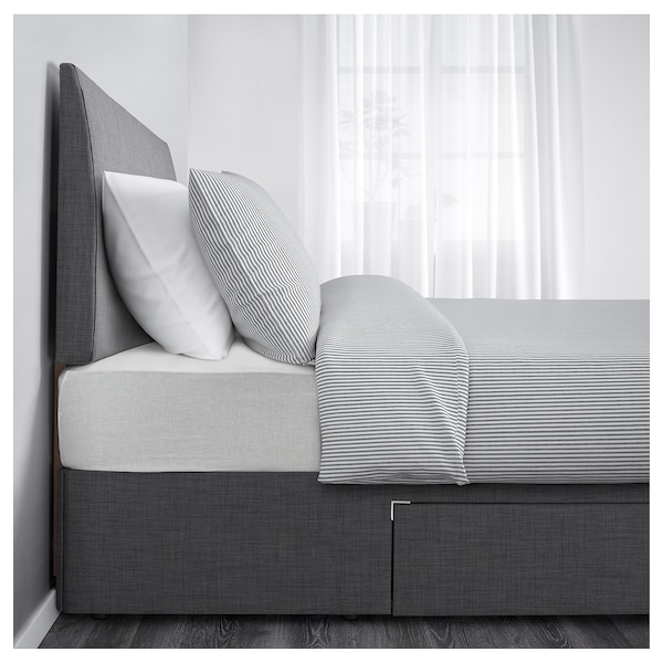 left, Skiftebo grey, Divan bed