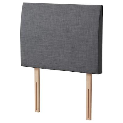 BALESTRAND Headboard, Skiftebo grey, Standard Single