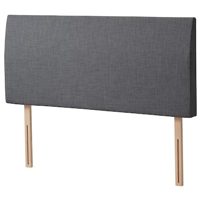 BALESTRAND Headboard, Skiftebo grey, Standard Double
