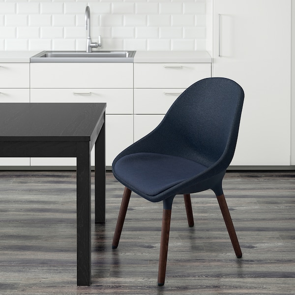 BALTSAR Chair, black-blue/brown