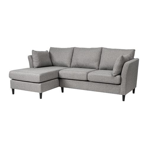 BANKERYD 2 seat sofa w chaise longue left Grey IKEA