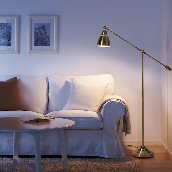 BAROMETER Floor/reading lamp, brass-colour