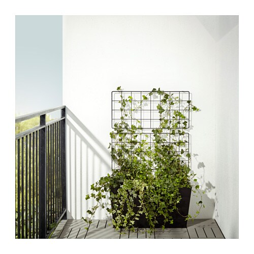 IKEA BARSÖ trellis You can mount the trellis vertically or horizontally to suit your outdoor space.