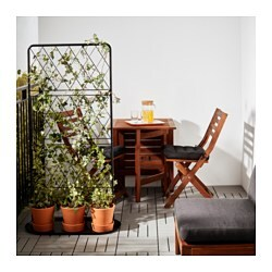 bars trellis with base plate black ikea. Black Bedroom Furniture Sets. Home Design Ideas