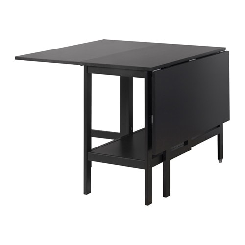 Ikea Wickelkommode Stuva Test ~ BARSVIKEN Drop leaf table Black 45 90 135×93 cm  IKEA