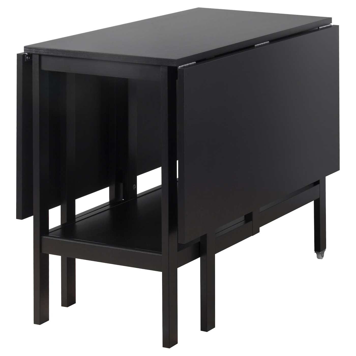 barsviken drop leaf table black 45 90 135x93 cm ikea. Black Bedroom Furniture Sets. Home Design Ideas