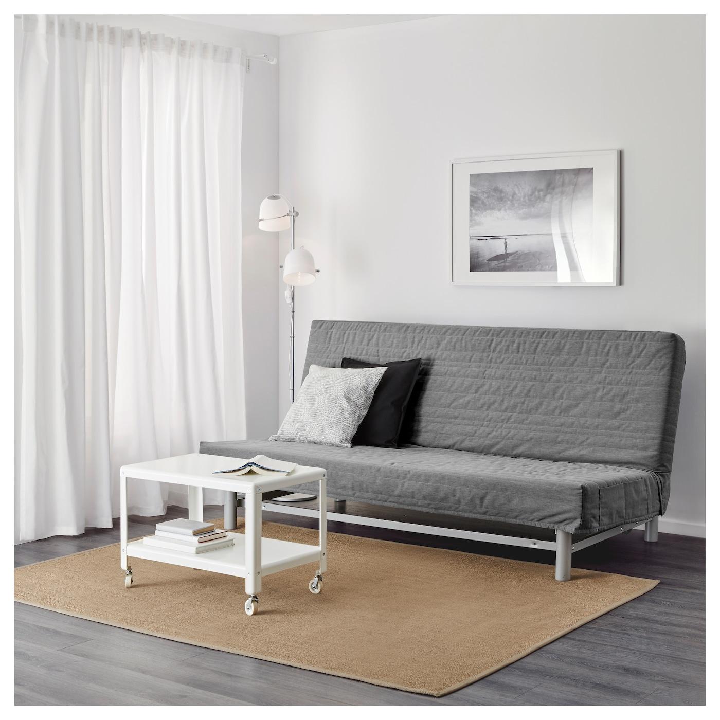 BEDDINGE LVS Threeseat sofabed Knisa light grey IKEA