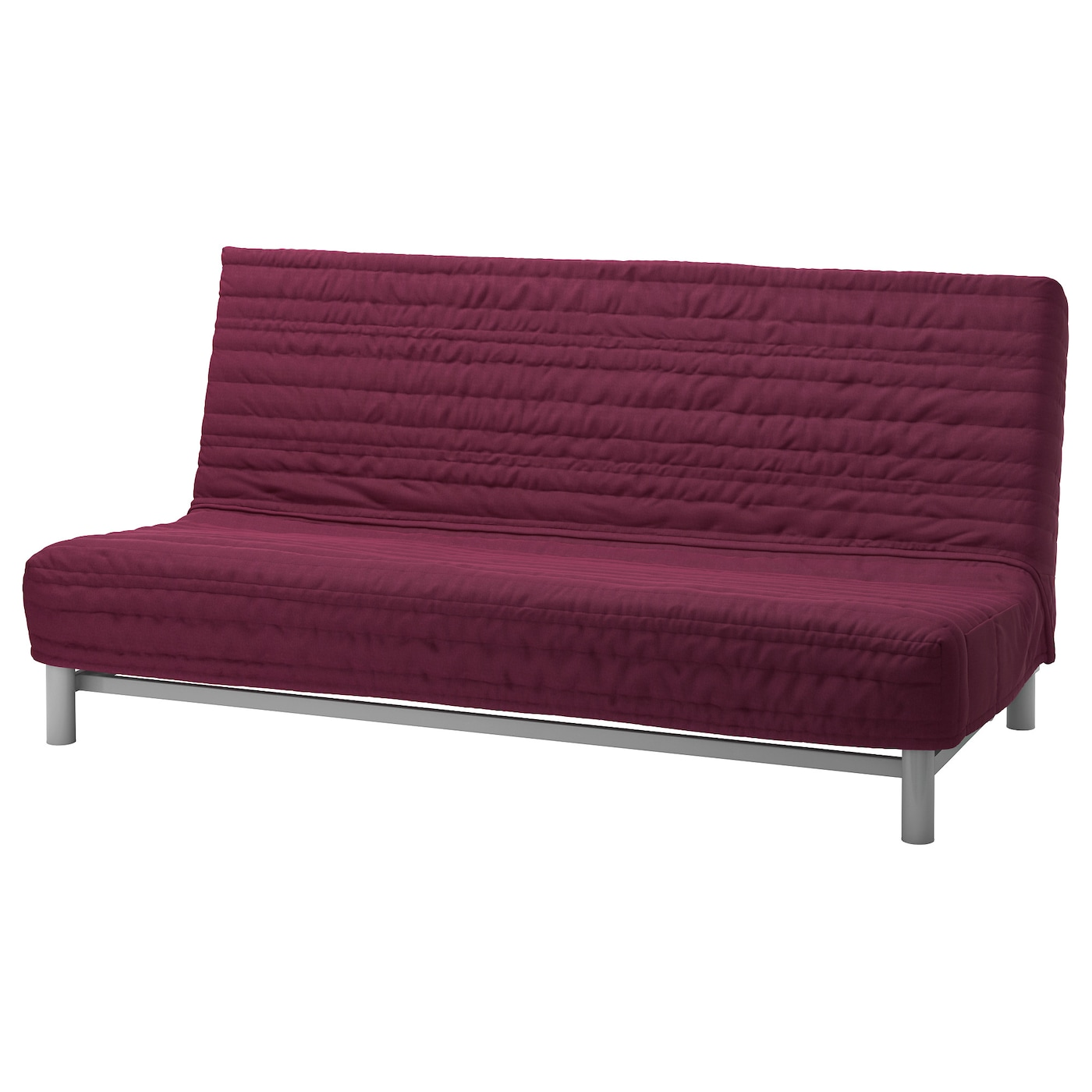 BEDDINGE LÖVÅS Three seat sofa bed Knisa cerise IKEA