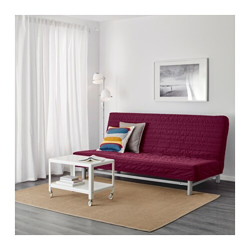beddinge l v s three seat sofa bed knisa cerise ikea. Black Bedroom Furniture Sets. Home Design Ideas
