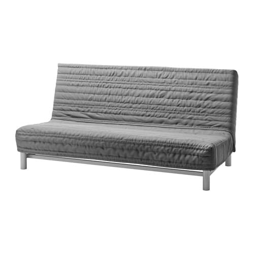 Schlafcouch ikea  BEDDINGE LÖVÅS Three-seat sofa-bed Knisa light grey - IKEA