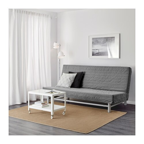 beddinge l v s three seat sofa bed knisa light grey ikea. Black Bedroom Furniture Sets. Home Design Ideas