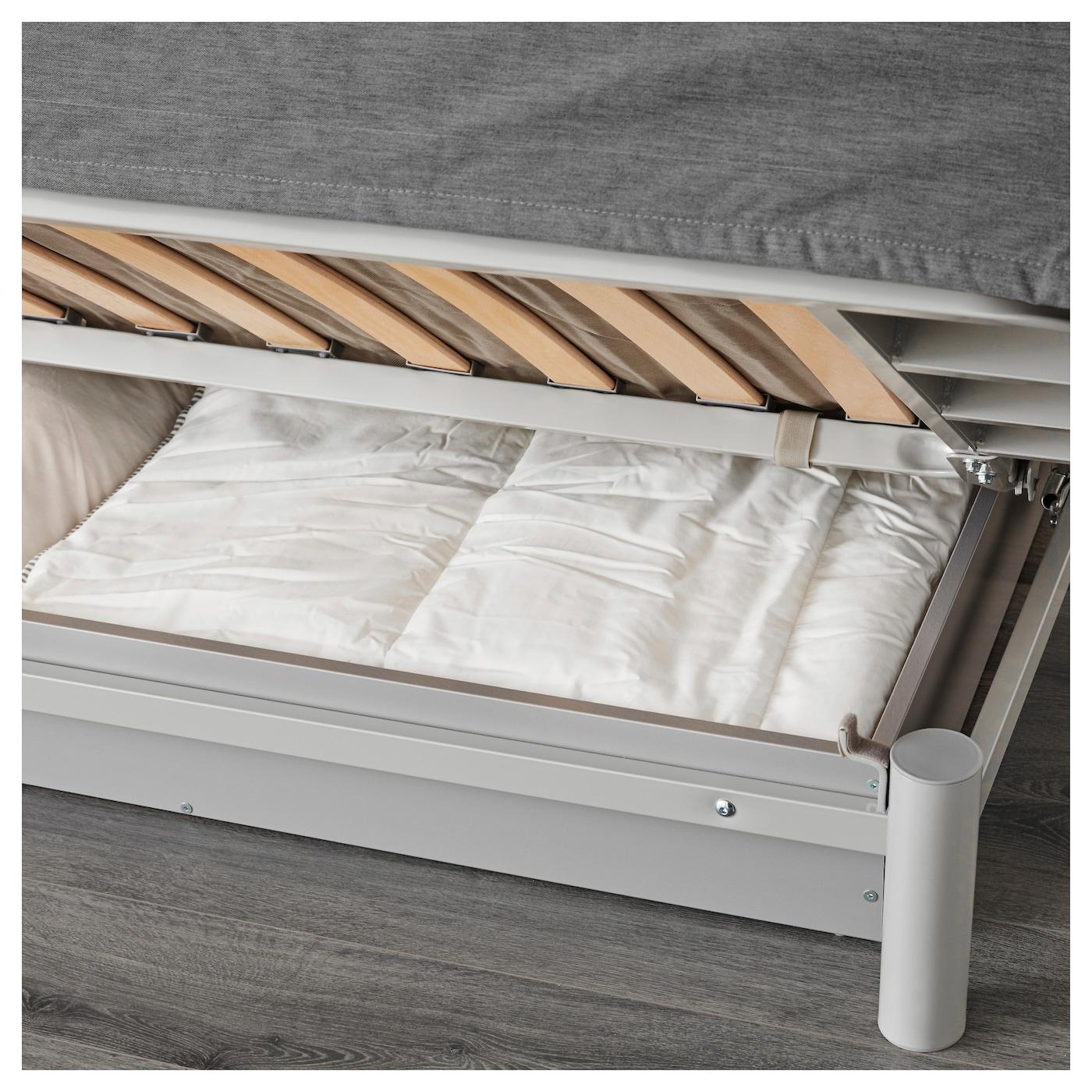 BEDDINGE L–V…S Three seat sofa bed Knisa light grey IKEA