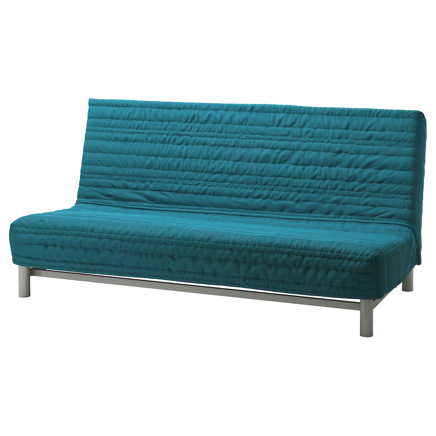 Schlafsofa ikea  BEDDINGE LÖVÅS Three-seat sofa-bed Knisa turquoise - IKEA